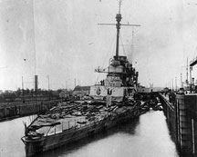 SMS Seydlitz, after the battle.