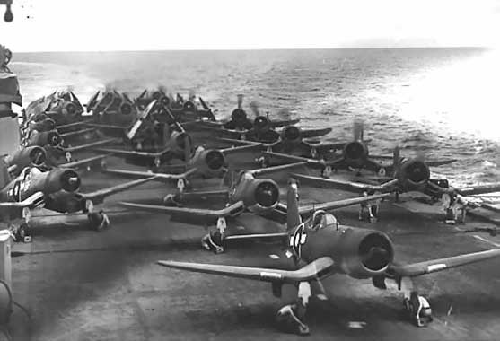 Corsairs on flight deck