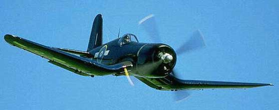 Corsair in flight
