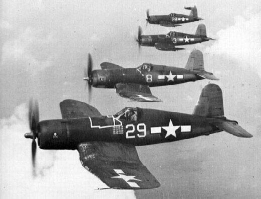 F4U Corsairs in flight